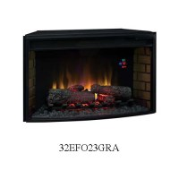Classic Flame Curved Front 32 inch Electric Fireplace ...