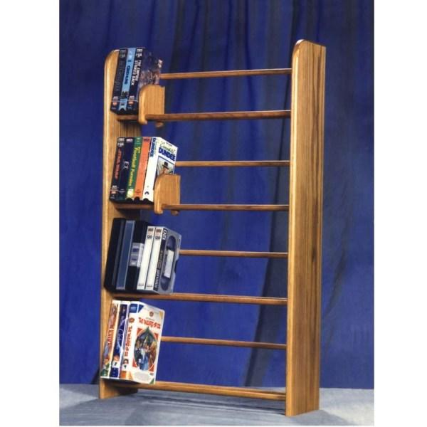 Wood Shed Solid Oak Dvd Vhs Rack Tws-405