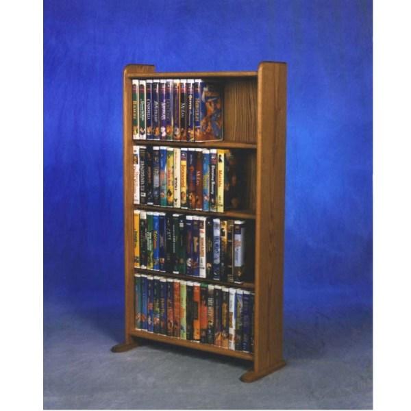 Wood Shed Solid Oak Disney Dvd Vhs Rack Tws-407