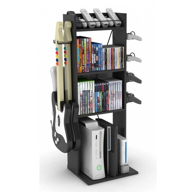 Atlantic Game Central Media Storage Stand Black 38806136