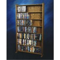 Wood Shed DVD and VHS Storage Rack Various Finishes 707-3