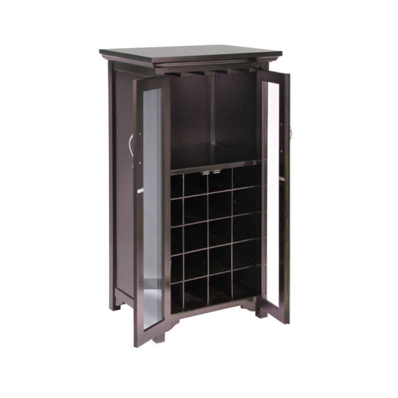 Winsome Wood Mason Wine Cabinet with Glass Doors 92722