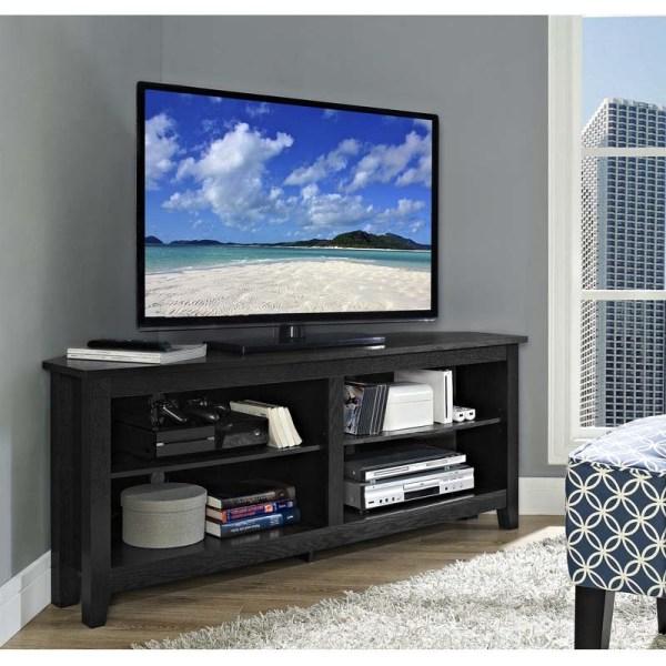 Walker Edison Essentials 60 Corner Tv Stand Matte Black W58ccrbl