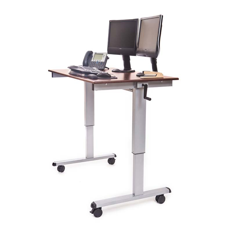 Luxor Adjustable Height Stand Up Desk Dark Walnut STANDUP