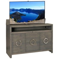 TV Lift Cabinet Enclave Solid Wood TV Lift with Storage ...
