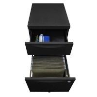 Luxor Mobile Pedestal Filing Cabinet (Black) KDPEDESTAL-BK