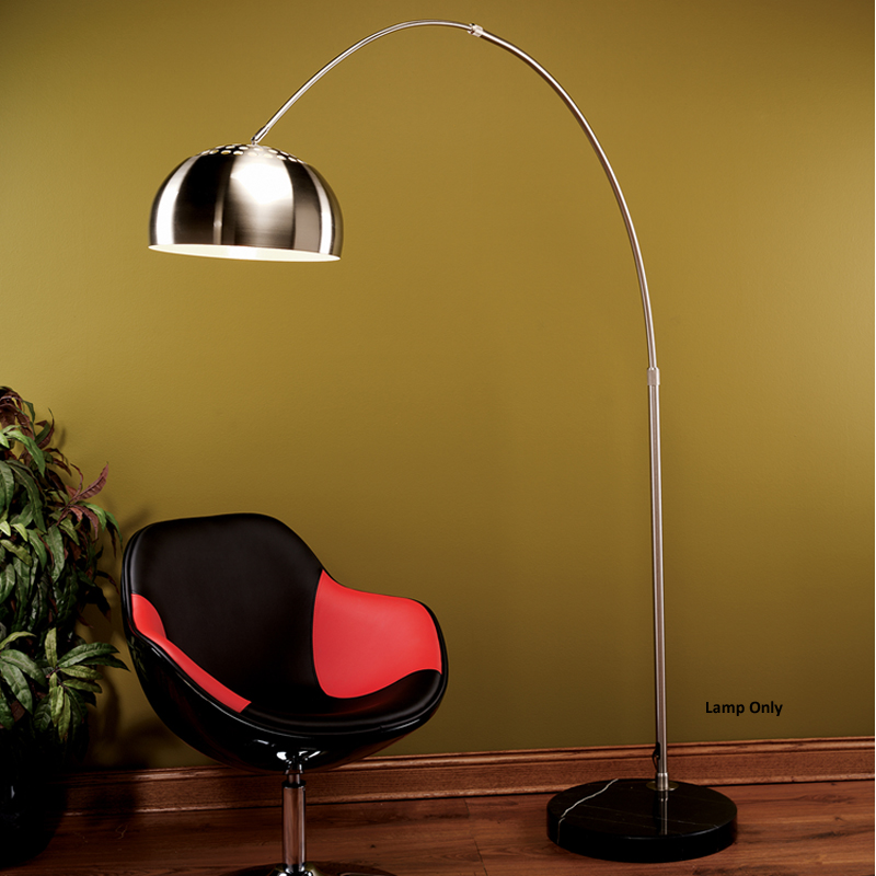 LumiSource Chrome Arch Floor Lamp Chrome LSARCH FLR