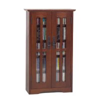Leslie Dame Wall Hanging Mission Style Multimedia Cabinet ...