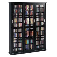 Leslie Dame Multimedia Storage Cabinet Black MS-1050B