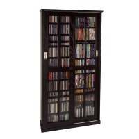 Leslie Dame Multimedia Storage Cabinet Espresso MS-700ES