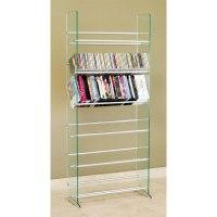 TransDeco Steel and Glass 336 CD DVD Storage Rack TD019