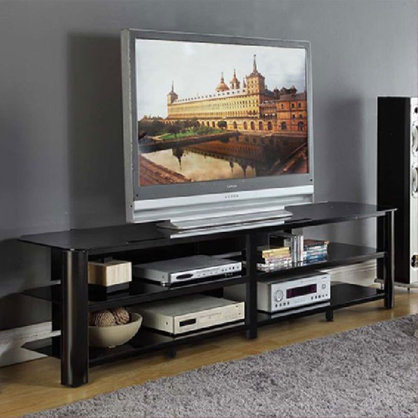 Innovex Oxford Series 82 Flat Screen Tv Stand Black Glass Tpt83g29