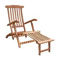 VIFAH Outdoor Wood Folding Chaise Lounge V156