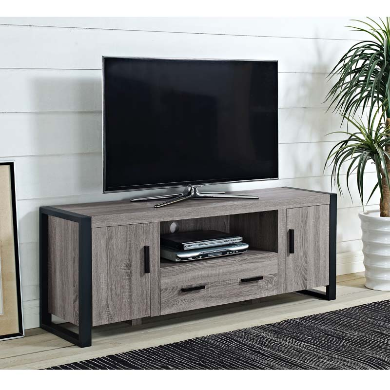 Walker Edison Urban Blend 65 inch TV Console Ash Gray and