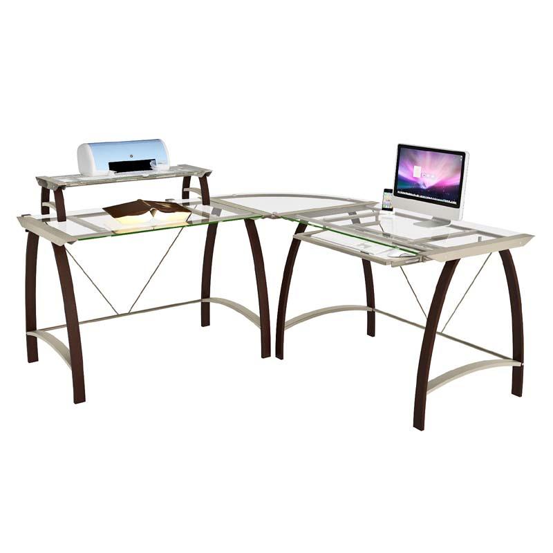 ZLine Designs Kayden Corner Desk with Hutch Espresso with