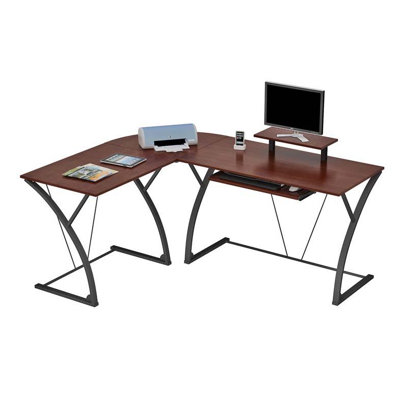 ZLine Designs Khloe LShaped Computer Desk Espresso and