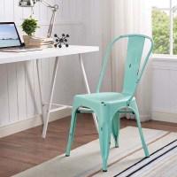 Walker Edison Single Metal Cafe Chair Mint Green CH33MCMT