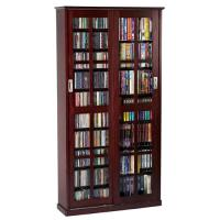 Leslie Dame Multimedia Storage Cabinet Dark Cherry MS-700DC