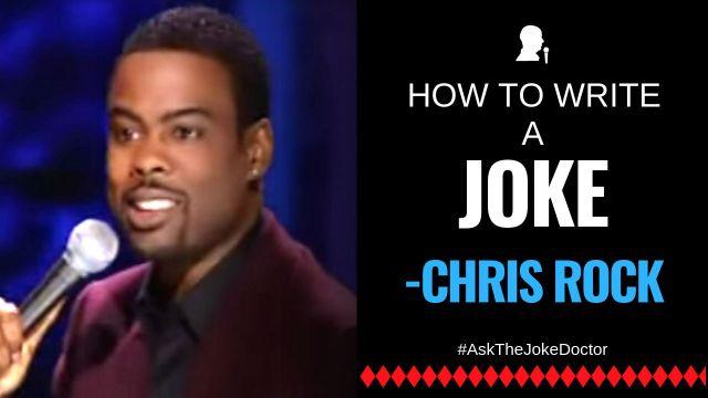 How to Write a Joke like Chris Rock - Stand Up Comedy Clinic