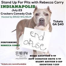 Stand Up For Pits INDIANAPOLIS happens in 4 weeks!!!