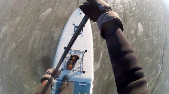 Rick Weeks cold water sup session 4