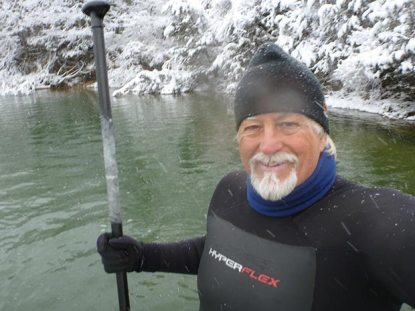 Rick Weeks cold water sup session
