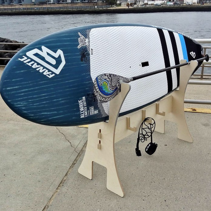 Rack Labs stand up paddleboard horse close up
