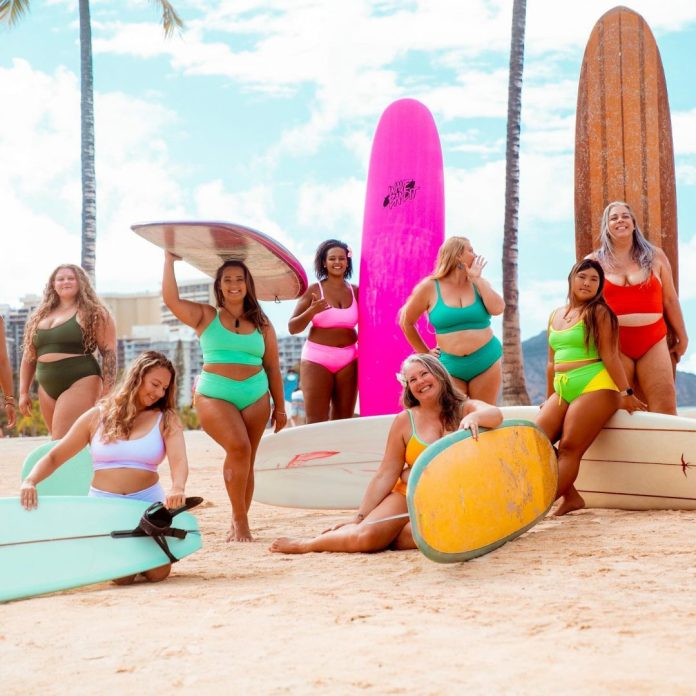 Curvy Surfer Girl womens apparel wetsuits