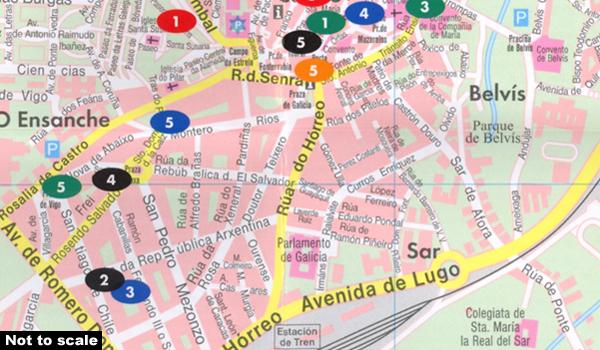 Santiago de Compostela Freytag Berndt City Pocket Map