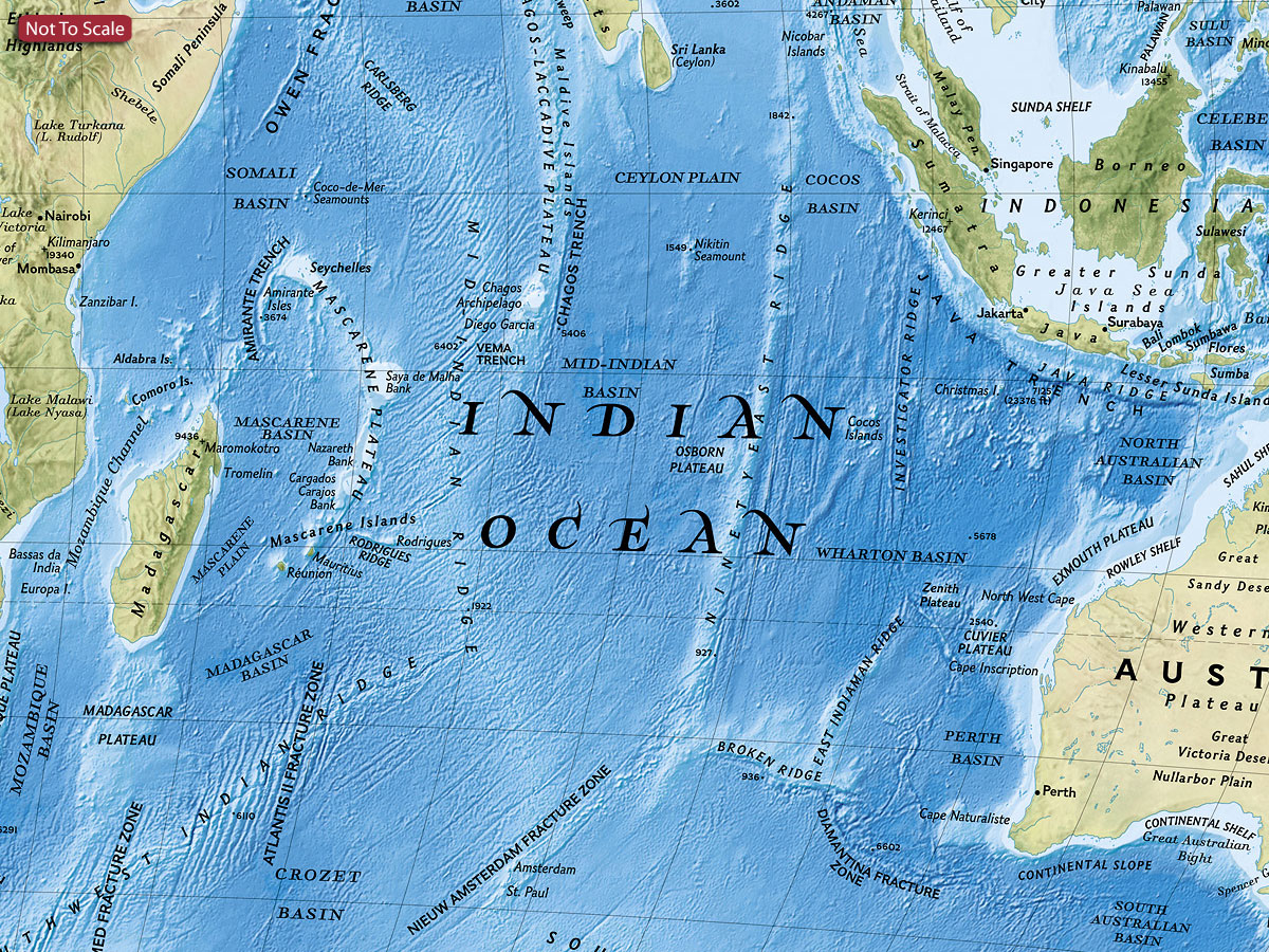 World Ngs Physical Ocean Floor Wall Map Paper