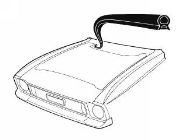 71-73 Mustang Cowl to Hood Seal