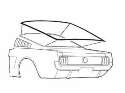 65-66 Mustang Fastback Rear Window Seal