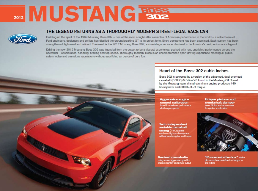 460-hp 2012 Ford Mustang BOSS 302 UNVEILED! – Stang Pit