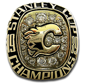 Calgary 1989 Stanley Cup playoffs ring - Front