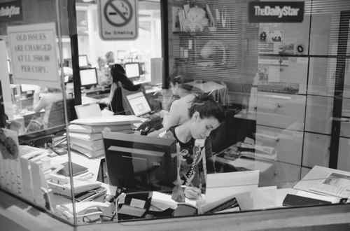 Offices at The Daily Star (not my picture)