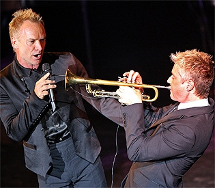 Chris Botti and Sting in Boston