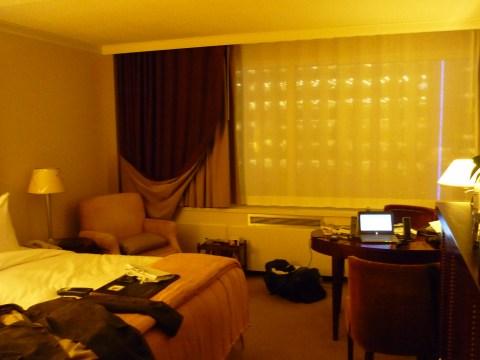 Ma chambre au 18e étage du Fairmont de Winnipeg.