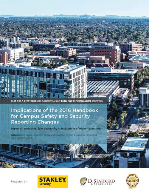 small resolution of implications of the 2016 handbook for campus safety security reporting changes
