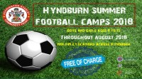 Free Football Sessions in Hyndburn this Summer