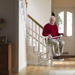 Electric Stair Chair Steel Vinyl Stairlifts For Curved Stairs Lifts With Landings Stannah
