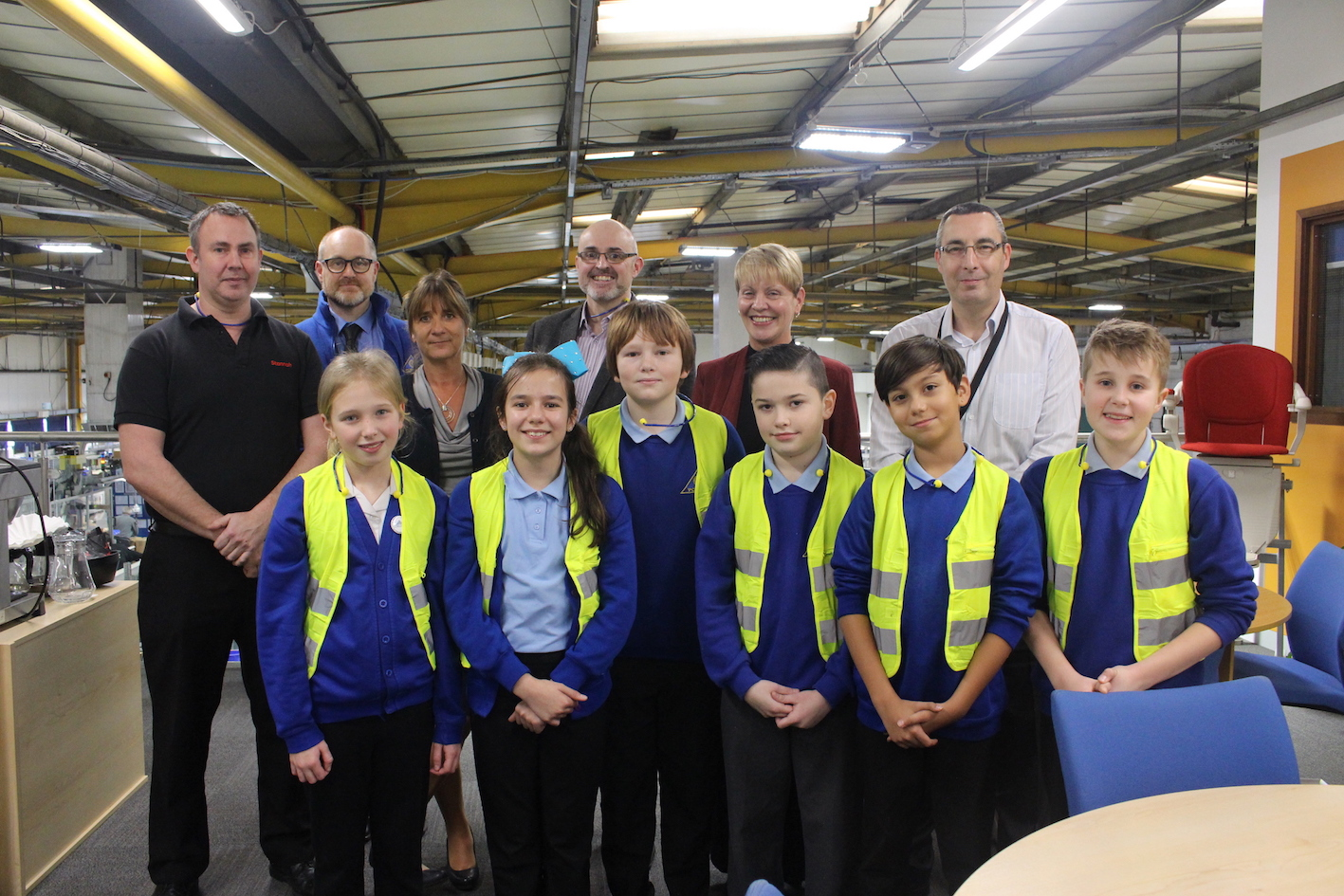 Year 5 Students Win VIP Tour Of Stannahs Andover Factory