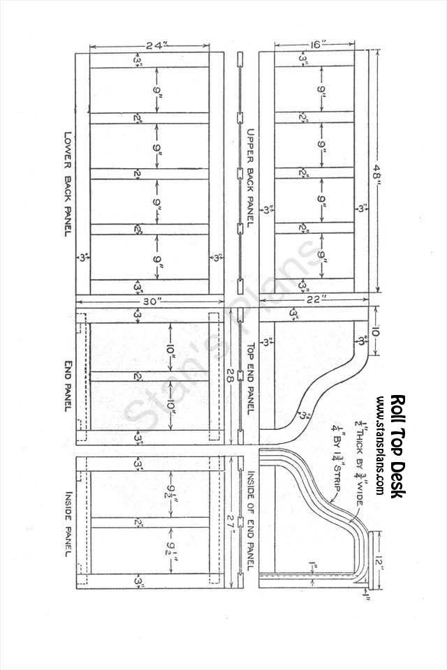 toin: Free Roll Top Desk Plans