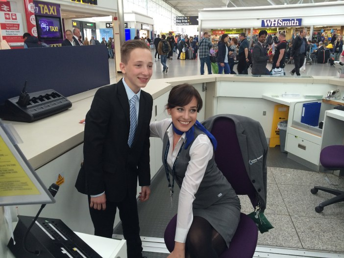 Students from Stewards Academy enjoy work experience at Stansted