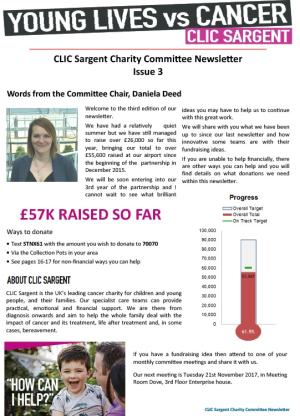 CLIC Sargent Newsletter Issue 3