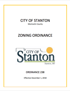 City of Stanton Zoning Ordinance