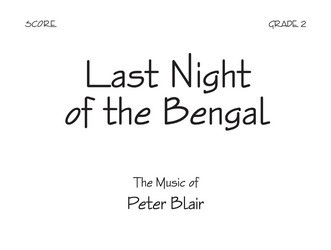 Last Night of The Bengal-Score-Full Sheet Music by Peter