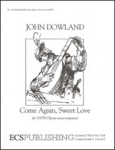 Come Again Sweet Love Sheet Music by John Dowland (SKU