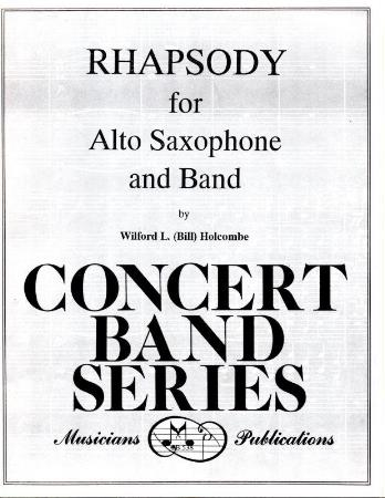 Rhapsody For Alto Saxophone and Band Sheet Music by