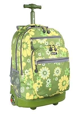 J World Sundance Flower Rolling Laptop Backpack  Staples