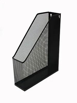 Buddy Products Single Mesh Magazine File Holder Black
